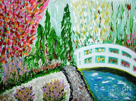 A Bridge in the Garden by Marie Bulger