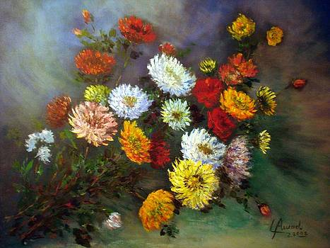 A bunch of flowers by Laila Awad Jamaleldin