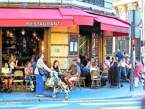 Jan Matson - A busy corner in Paris