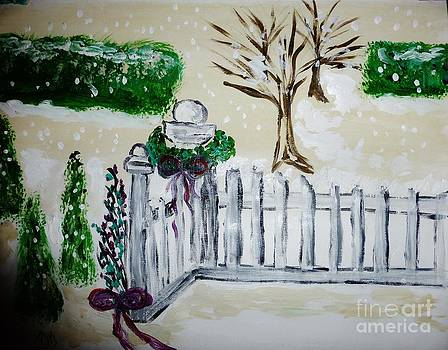 A Christmas Fence by Marie Bulger