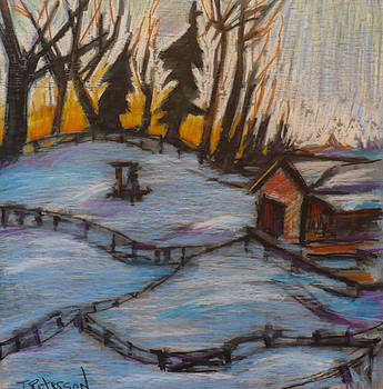A cold Mazeppa morning by Todd  Peterson