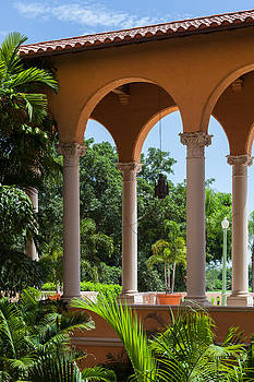 A Covered Walkway at the Biltmore by Ed Gleichman