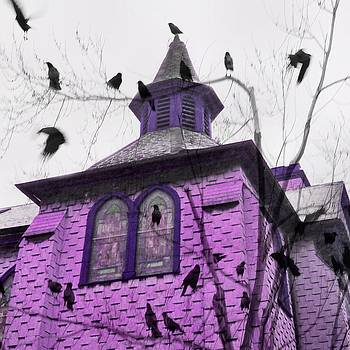 Gothicrow Images - A Pink Church Crow Fantasy
