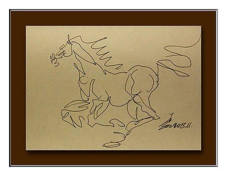 A dancing horse by Richard Xiaochuan Li