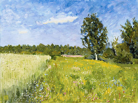 A Day in June after Levitan by Mick Wren