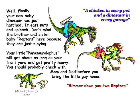 A Dinosaur Gift for You Card by Michael Shone SR