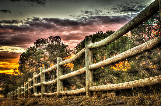 A Fence Out Back by Helene Kobelnyk