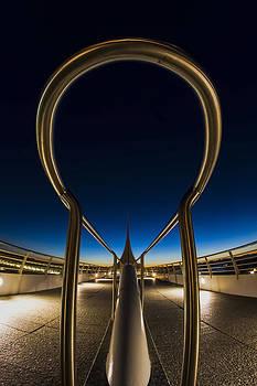 A fisheye look at the ultra-modern Milwaukee Art museum at dawn by Sven Brogren