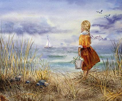 A Girl And The Ocean by Irina Sztukowski