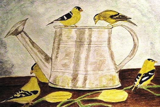 Angela Davies - A Goldfinch Gathering
