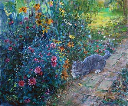 A great mystery for a kitten by Galina Gladkaya