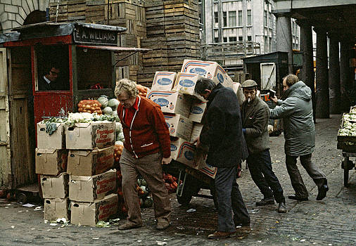 A helping hand Covent Garden Market London UK 1973 by David Davies