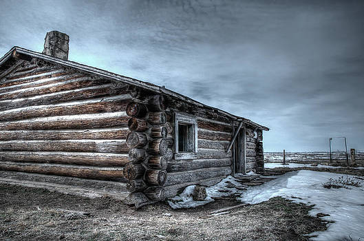 A Hunters Cabin by Larry Fisher