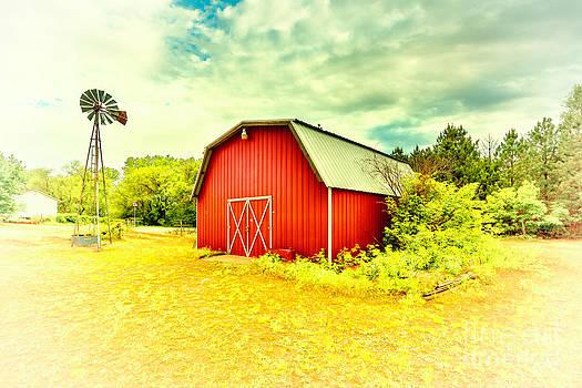 A Kansas Barn and Windmill by  Caleb McGinn