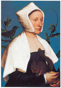 Hans Holbein the Younger - A Lady with a Squirrel and a Starling