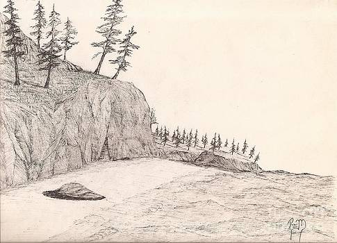 A Lakeshore... Sketch by Robert Meszaros