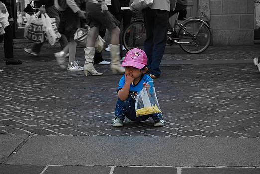 A little Asian girl in Italy by Arylana Art