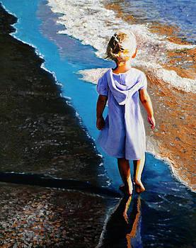 A Little Walk on the Beach by Francoise Lynch