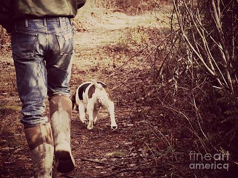 A Man and his dog by Christy Beal