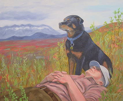 A Man and His Dog by Sherri Anderson