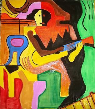 A man with guitar by Sonali Singh
