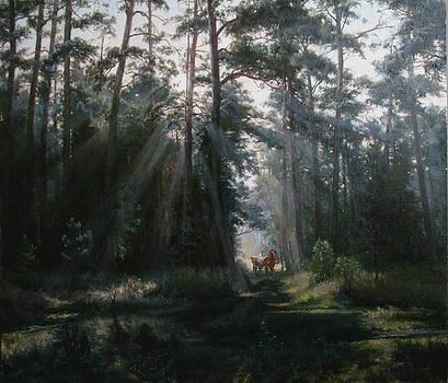A misty morning by Korobkin Anatoly