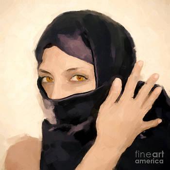 A mysterious woman by Nantaporn Tatsri