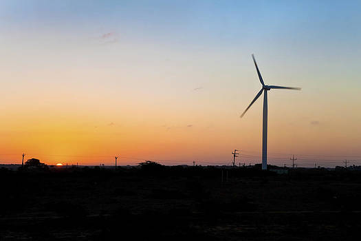 Kantilal Patel - A new day for windmill on Dwarka Plains