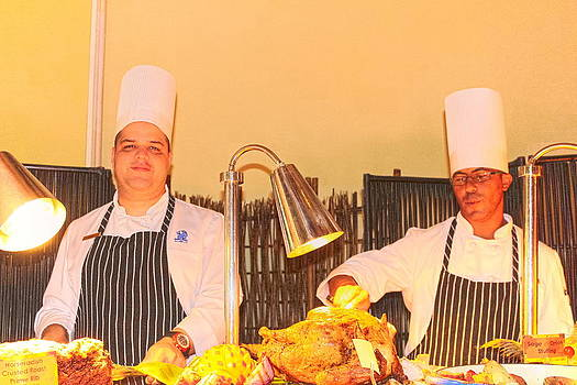 Sandra Pena de Ortiz - A Pair of Chefs In Thanksgiving