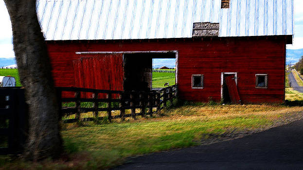A Peaceful Day with a Barn by Christine Burdine