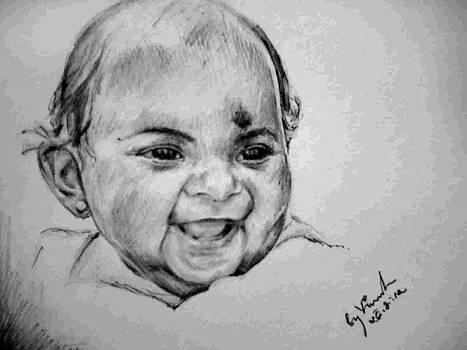 A pencil touch..Rithika by Vineesh Attiyatiyil