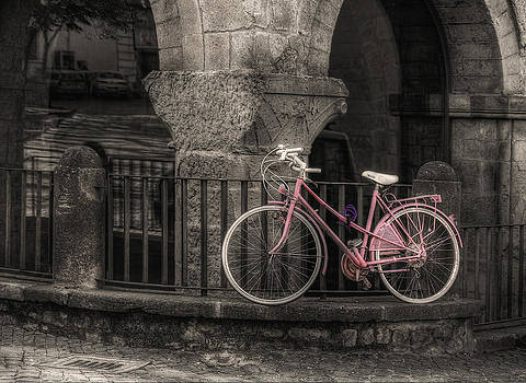 A Pink Bicycle by Leonardo Marangi