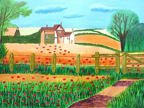 A Poppy Field by Magdalena Frohnsdorff