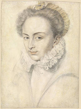 Daniel Dumonstier - A portrait of a young woman in a ruffled collar