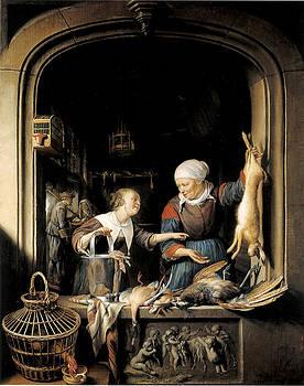 Gerrit Dou - A Poulterer