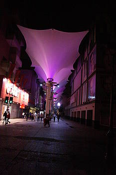 A Purple Street-Barros Arana-Concepcion-Chile by Thomas D McManus