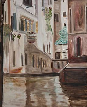 A Quiet Venice Canal by Chuck Gebhardt