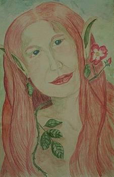 A Rose Faerie by Carrie Viscome Skinner