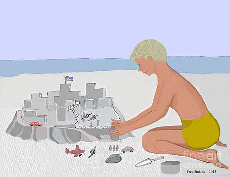 A Sand Fort  by Fred Jinkins