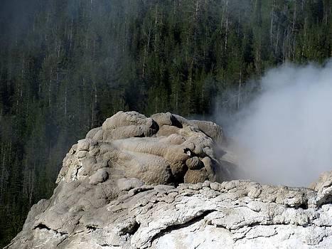 A Smoking Man. Yellowstone Hot Springs by Ausra Huntington nee Paulauskaite