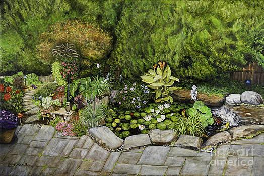 A Splendid Garden - Koi Pond by Gail Darnell
