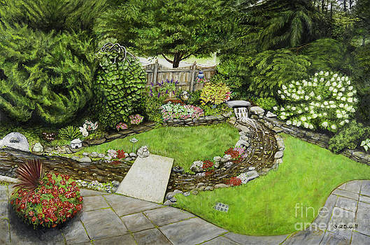 A Splendid Garden - Waterfall and Stream by Gail Darnell