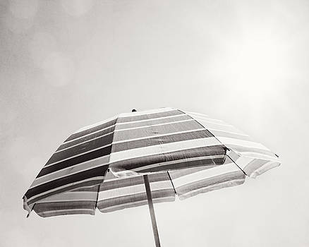 A Spot of Shade - Beach Umbrella by Carolyn Cochrane