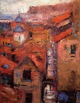 A street in Dubrovnik by R W Goetting