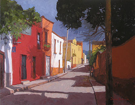 A Street in San Miguel  by Donna Dickson