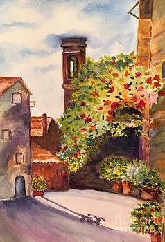 A Street in Tuscany by Lucia Grilletto