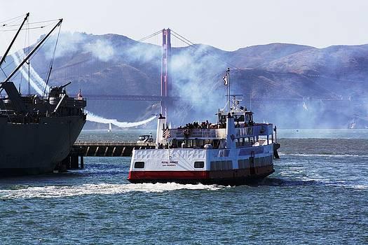 San Francisco Bay - Blue Angle Stuntman  by Victoria  Johns