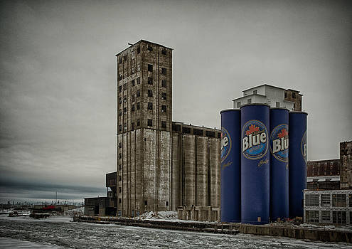 A Tall Blue Six-Pack by Guy Whiteley