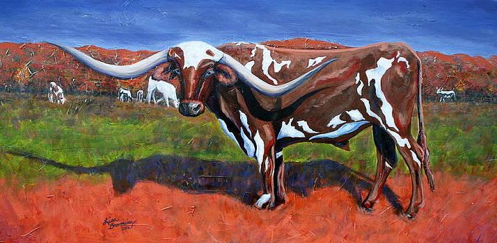 A Texas Longhorn Steer by Lisa Browning