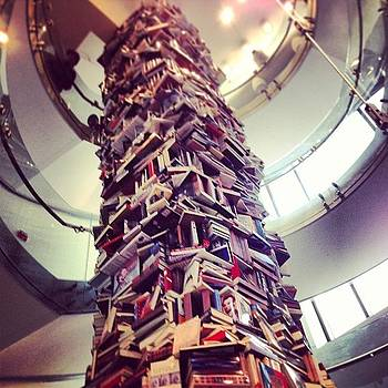 A Tower Of Books Written About Abe by Dean Sauls